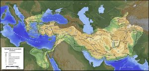 The Empire of Alexander the Great.